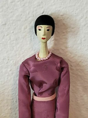 """Antique 13"""" PAINTED CARVED PENNY PEG WOODEN ARTICULATED FLAPPER ARTIST DOLLS for Sale in Long Beach, CA"""