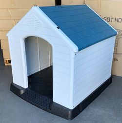 New In Box $140 Waterproof Plastic Dog House for X-Large size pet Indoor Outdoor Cage Kennel 42x40x45 inches for Sale in Los Angeles,  CA