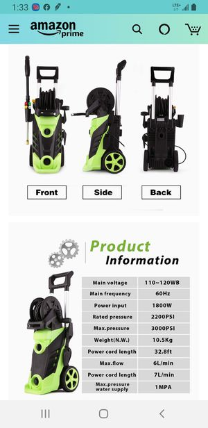 Electric Pressure Washer for Sale in Des Plaines, IL