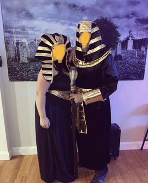2 plus size king pharaoh Halloween costume set for Sale in Spencerville, MD