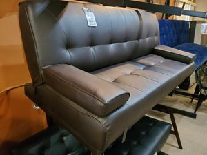 Brown Leather Futon for Sale in Norwalk, CA