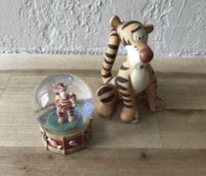 Disney tigger figurine. Small snow globe for Sale in Oakley, CA