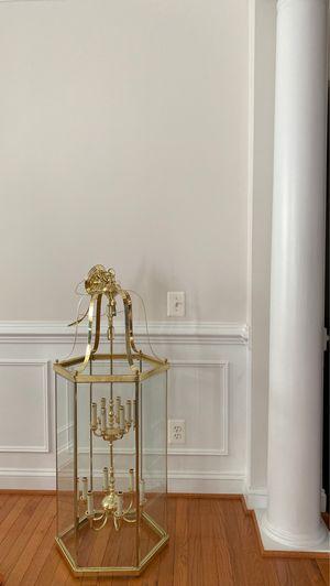12 light brass chandelier for Sale in Lorton, VA