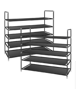 2 Pack 5-Tier Shoe Rack - tomcare brand for Sale in Miami, FL