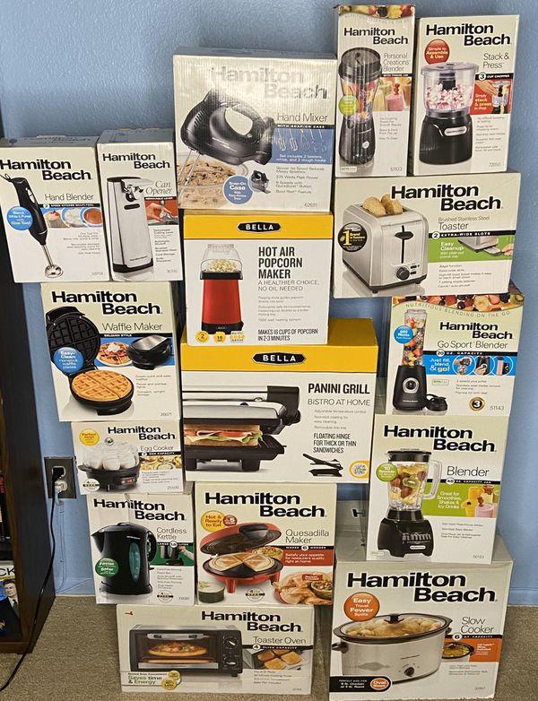 NEW Hamilton Beach Small Appliances (1 for $15, 2 for $28, 3 for $35) Toster/Blender/Cooker