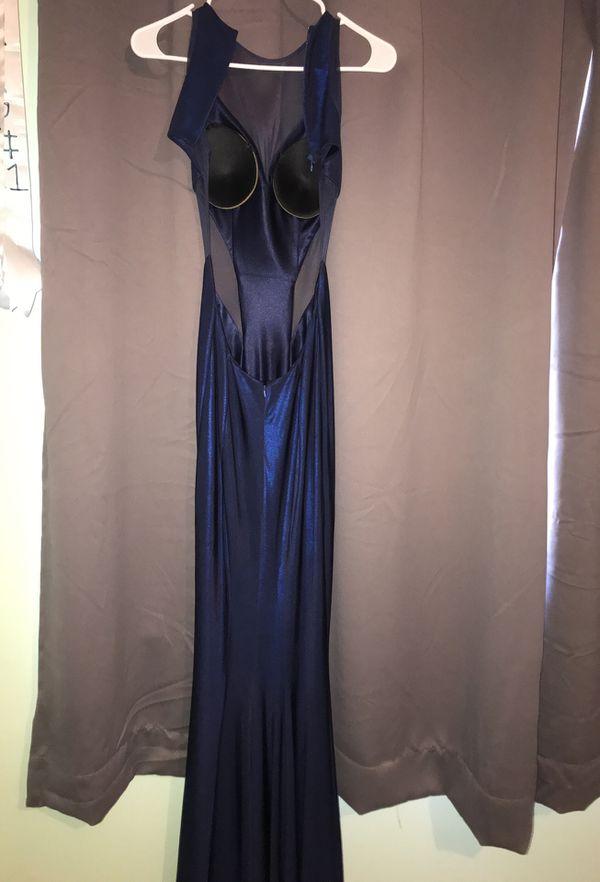 Prom dress navy blue brand new size 2 BEST offer !!