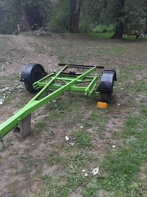 12x6 custom trailer frame project C CHANNEL HEAVY DUTY STEAL 8 lug wheels DEAL DEAL DEAL for Sale in Vancouver, WA