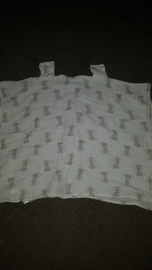 Aden and Anais car seat canopy in Elephant print for Sale in Pomona, CA