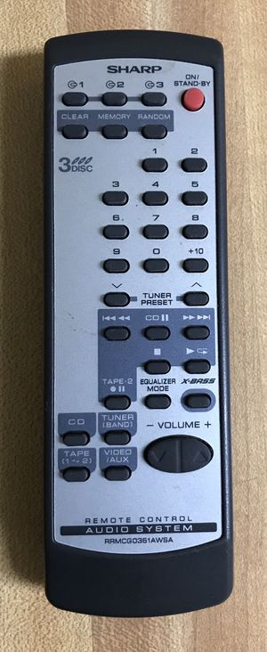 SHARP RRMCGO219AWSA Original Remote control audio stereo sound system for Sale in Lanham, MD
