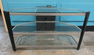Like New 3 Tier Glass TV Stand for Sale in Seattle, WA