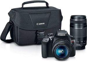 NEW Canon Digital SLR Camera Kit [EOS Rebel T6] with EF-S 18-55mm and EF 75-300mm Zoom Lenses - Black /w Bag for Sale in Doral, FL