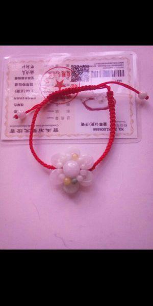 Certified genuine jade multicolors flower knitted bracelet adjustable for Sale in Richmond, CA