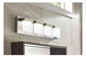 4 light LED vanity fixture Albertson collection Home decorators collection for Sale in Santa Monica, CA