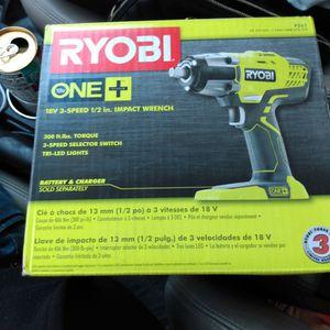 1/2 In BRAND NEW ryobi Impact Wrench for Sale in Las Vegas, NV