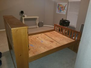 Full size wood bed with drawers and storage underneath for Sale in Spring, TX