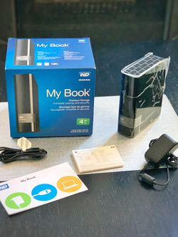 External Hard Drive Disk (WD My Book 4 TB) like NEW for Sale in Belmont,  CA