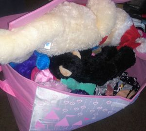 FREE Storage Box full of Stuffed Animals for Sale in Whittier, CA