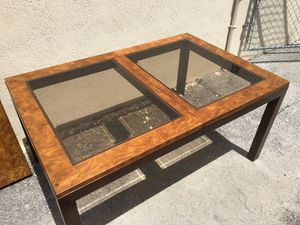 Glass & Burl Wood Look Table SALE PRICE $60 for Sale in Fort Lauderdale, FL