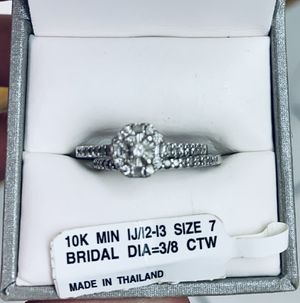 10k white gold diamond engagement wedding ring set. Size 7 for Sale in Winter Haven, FL