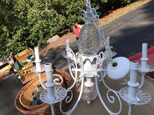 Chandelier with pineapple for Sale in Barrington, RI