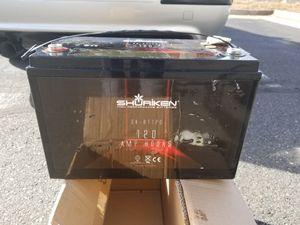 Shuriken battery. 120amp, 2400 CCA for Sale in Manassas Park, VA