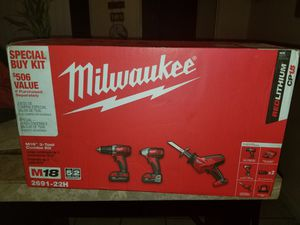 New milwaukee 3 tool combo kit for Sale in Atwater, CA