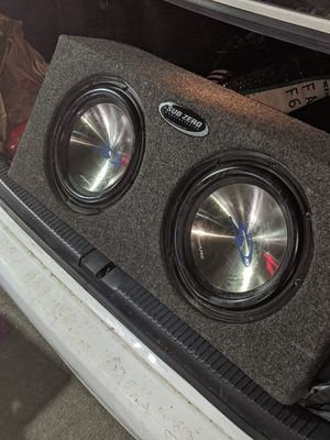 "Alpine sub zero 10"" subs + Brand new Alpine M500 Amp for Sale in Denver, CO"