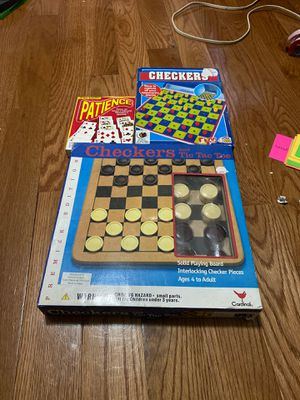 3 board games (patience, checkers and tic tac toe) for Sale in Philadelphia, PA