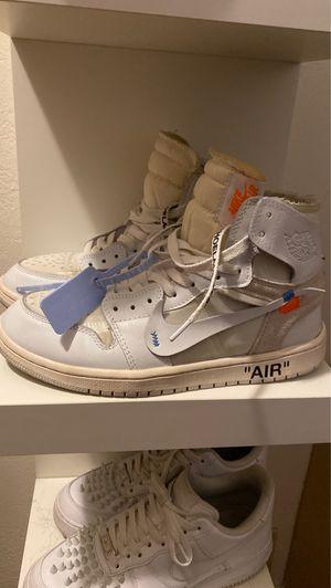 Off white Jordan 1 euro for Sale in Denver, CO