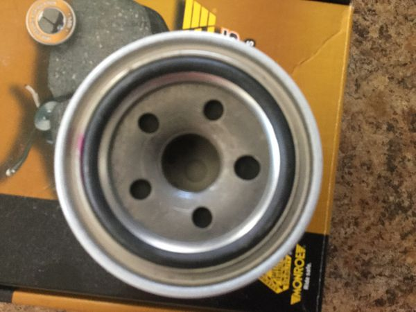 Auto Parts, set of Monroe Ceramics Premium Brake Pads, 5QT Green 5W-30 motor Oil & PurePro Oil Filter, Toyota Hyundai