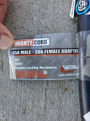 15 a male to 30 a female adapter brand new for Sale in Stockton, CA