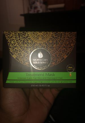 Moroccan gold series treatment mask for dry and damaged hair for Sale in San Diego, CA