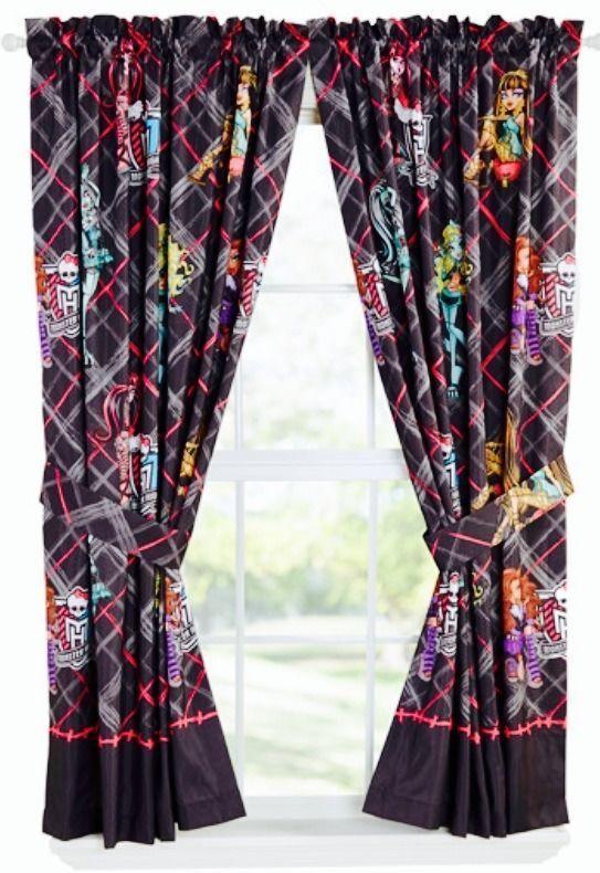 Monster High Girls Bedroom Curtain Panels