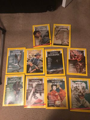 National Geographic Magazines 1970 (10) for Sale in Winston-Salem, NC