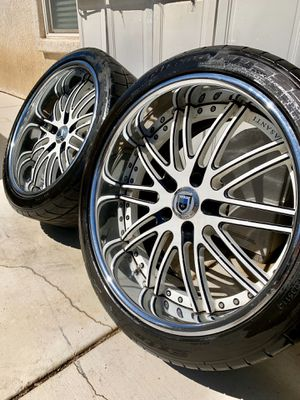 Custom Asanti Wheels + Tires Included for Sale in Norco, CA