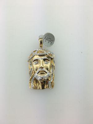 10 karat gold Jesus had charm with diamonds for Sale in Stratford, CT