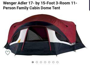 Wenger Swissgear Adler 17×15 Cabin Dome Tent Sleeps 11 $105 for Sale in Pembroke Pines, FL