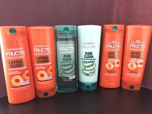 Three Sets of Garnier Fructis Shampoo and Conditioner for Sale in Lorton, VA