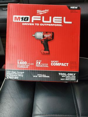 "Milwaukee M18 FUEL 1/2"" HIGH TORQUE IMPACT WRENCH W FRICTION RING for Sale in Riverview, FL"
