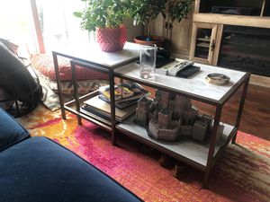 Faux Marble Nesting Coffee Table for Sale in Cranford, NJ