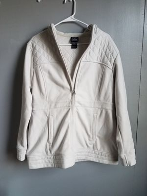THE NORTH FACE Womens Fleece Parka Jacket Off White XL Zip CC03 Quilted Hoodie for Sale in Philadelphia, PA
