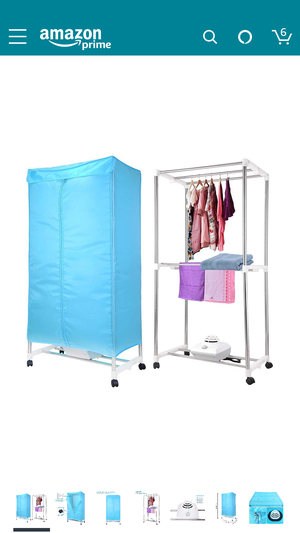 Yescom Portable Electric Clothing Dryer Rack 1000W Heater Wardrobe Drying Rack Home for Sale in Silver Spring, MD