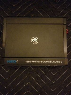 NEO db 1250w 4 channel amp for Sale in Morrisville, NC