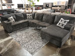 Stylish Sectional Sofa, Smoke, SKU# ASH80703TC for Sale in Santa Fe Springs, CA