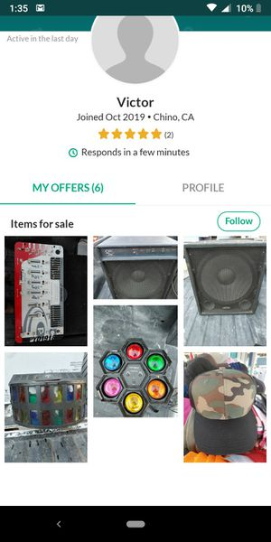 Be careful with this person selling damaged or burned things and not returning the money and not responding. for Sale in Ontario, CA