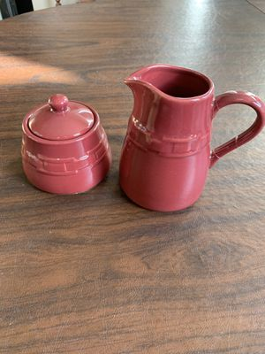Longaberger sugar and creamer set for Sale in Chino Hills, CA