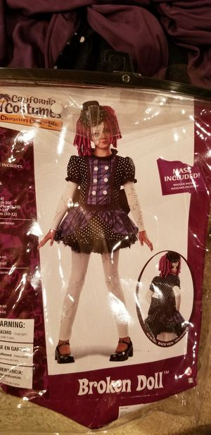 Broken doll costume child 8-10 for Sale in Franklin, TN