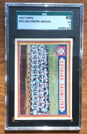 1957 Topps Baseball Card #251 - Baltimore Orioles Team Card for Sale in Middleton, MA