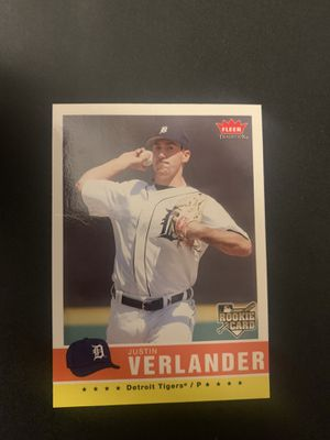 Justin Verlander Rookie Baseball card for Sale in Houston, TX