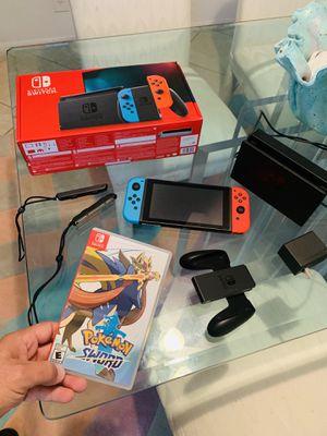 Nintendo SWITCH + Pokémon SWORD - like new for Sale in Boca Raton, FL